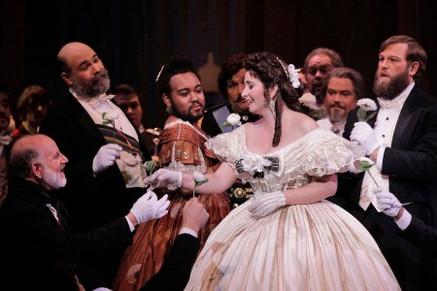 "In Review: Larkin receives ""highest praise"" for Portland Opera ""La Traviata"""