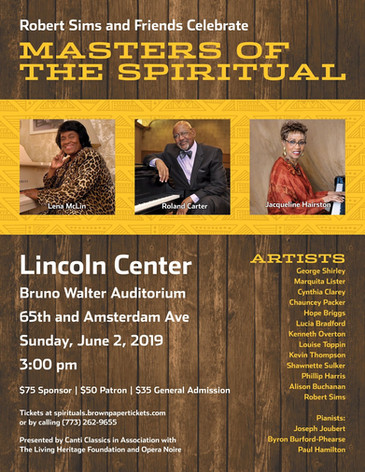 "Packer brings his ""clear tenor"" to Lincoln Center ""Masters of the Spiritual"" con"