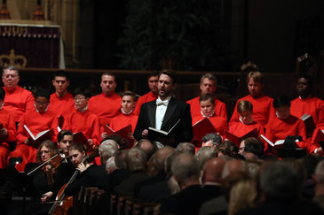 "New York Times: Blumberg ""stole the show"" in St. Thomas Choir ""Messiah"""