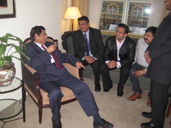 With Union Minister Mr.E.Ahmed