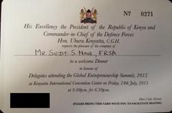 Dinner with Kenyan President