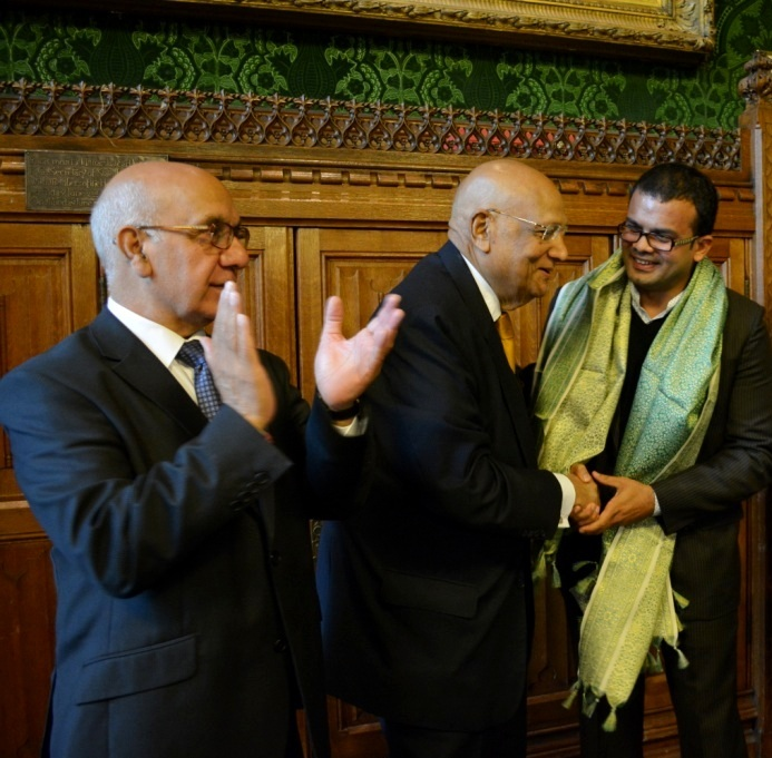 With Lord Swraj Paul @ UK Parliament
