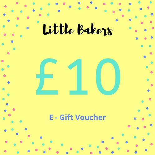 £10 E-Gift voucher