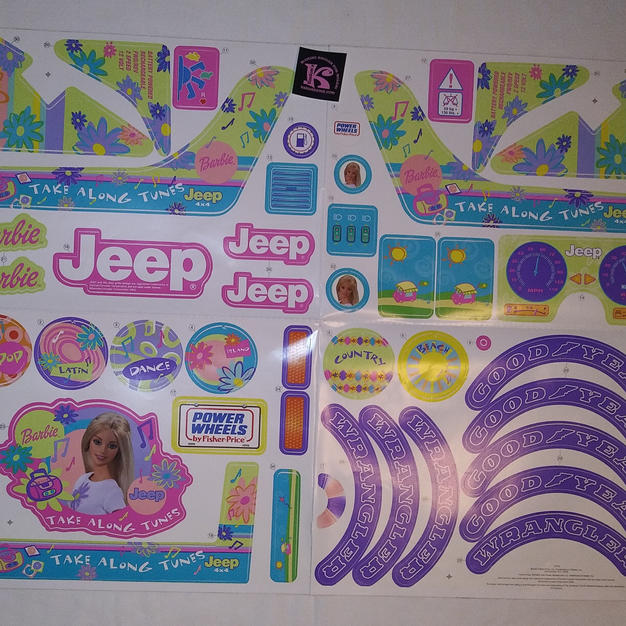 77770 Decals, Tag A Long Jeep Decals