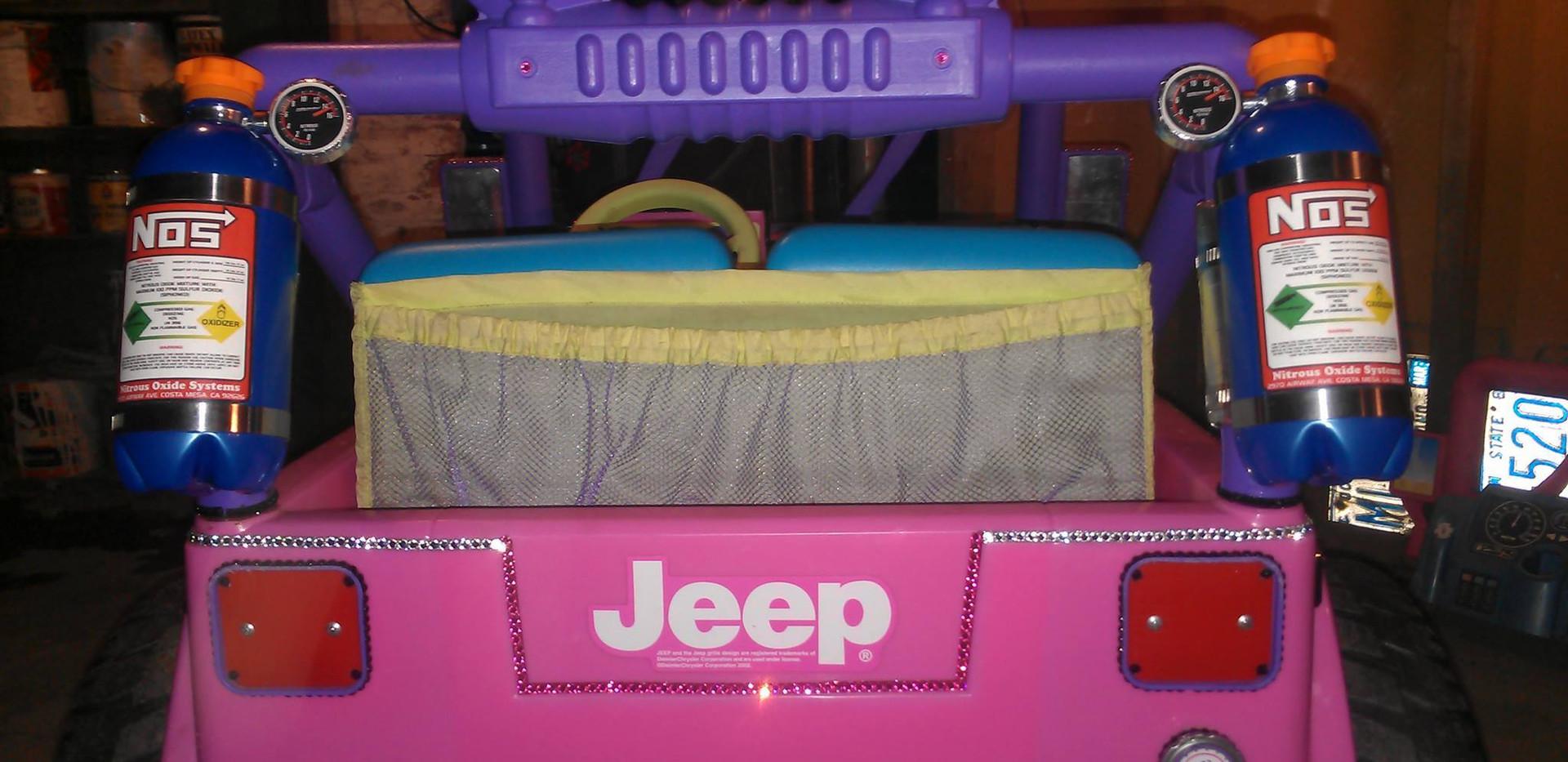 """Pinkie"" a Custom Power Wheels Jeep"