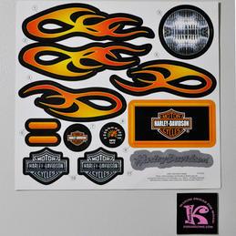 X0067-0320 Decals, Harley Davidson 6V