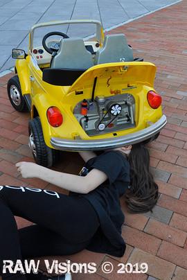 Karissa working on Bumblebee