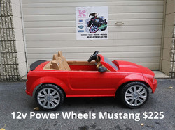 12v Power Wheels Candy Red Mustang