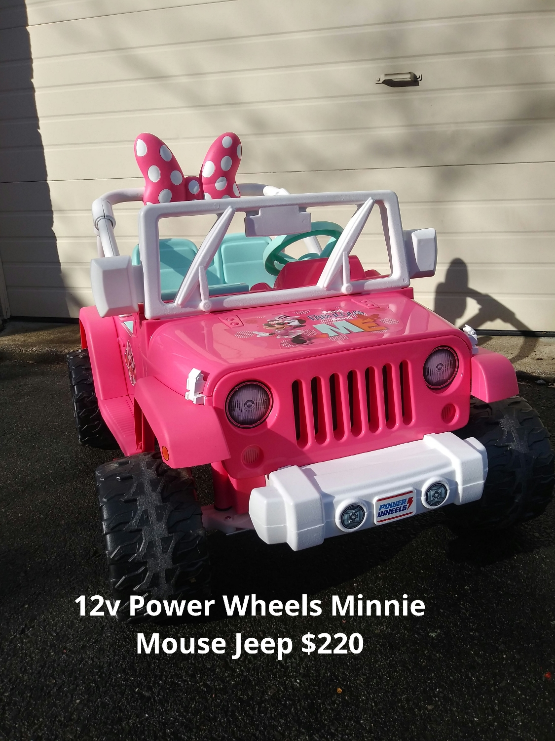 12v Power Wheels Barbie Jeep