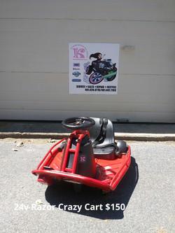24v Razor Crazy Cart