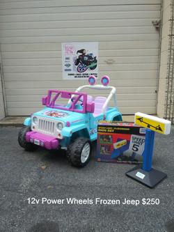 12v Power Wheels Frozen Jeep