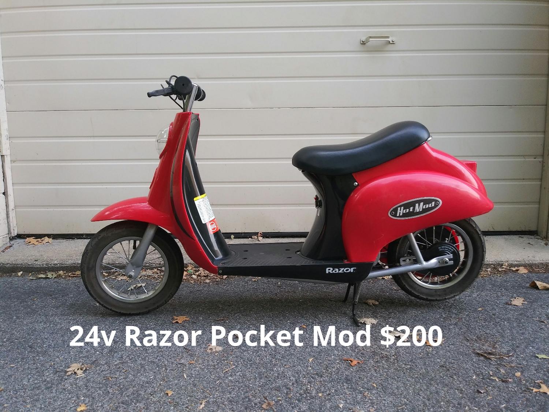 24v Razor Pocket Mod