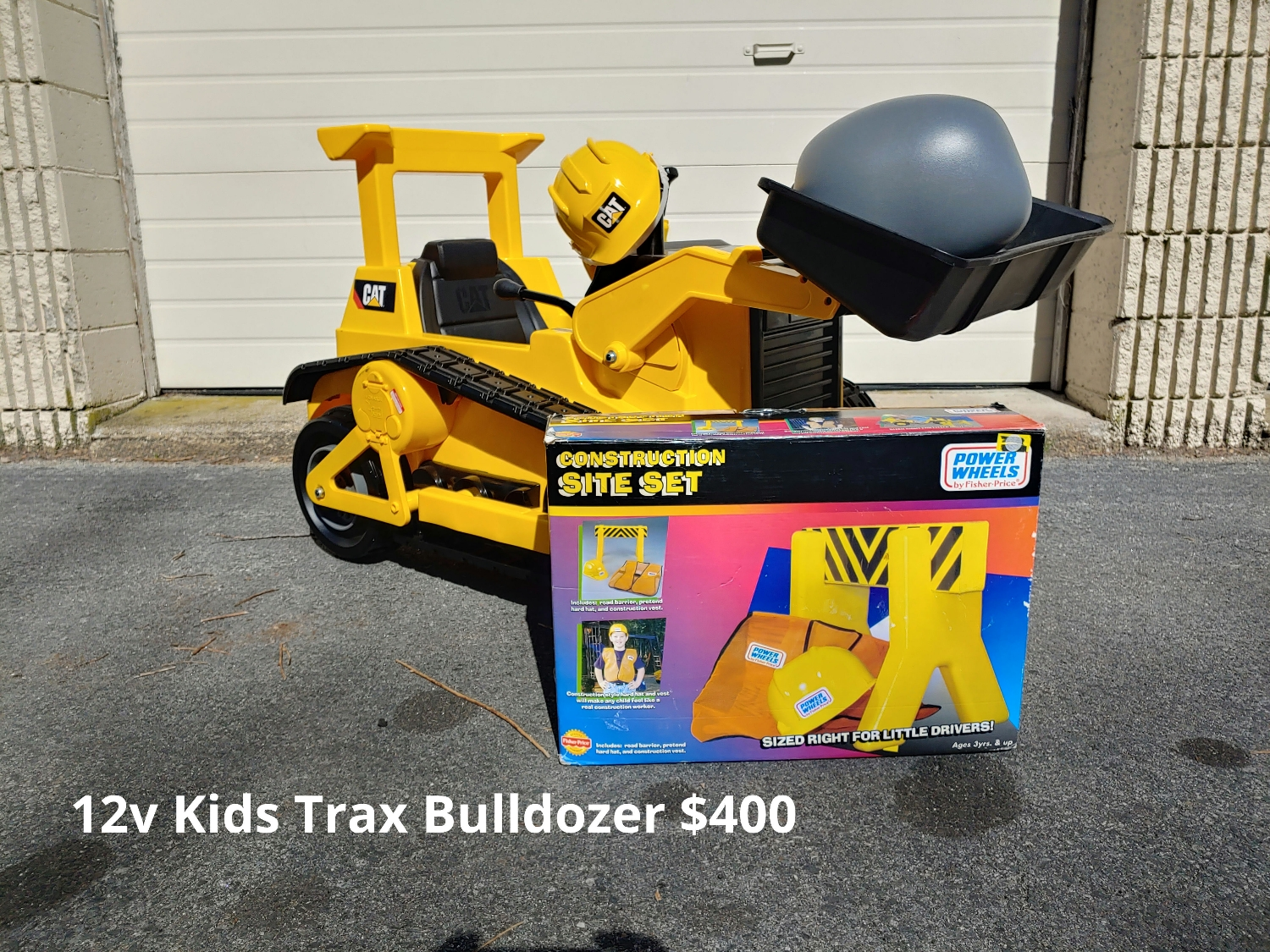 12V Kids Trax CAT Bulldozer