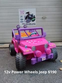 12v Power Wheels Jeep