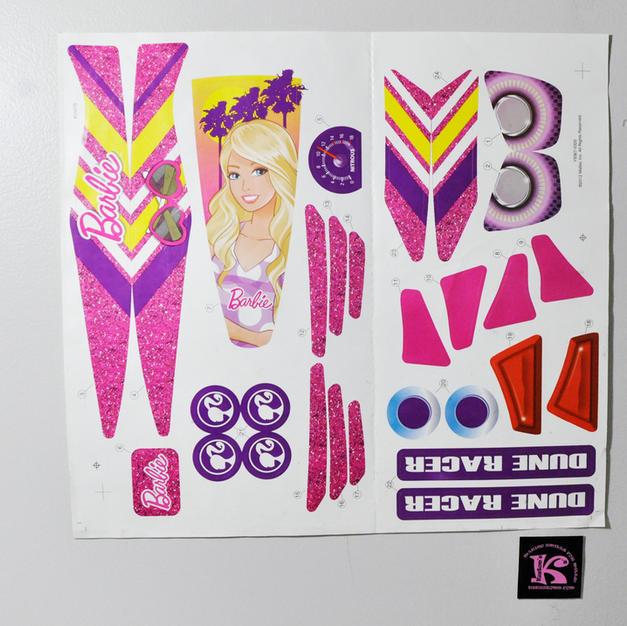 Y9367-0320, Decals, Barbie Dune Racer