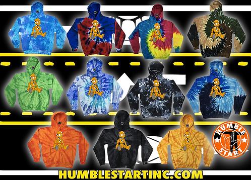 "Humble Start ""Crash Dummy"" Tye Dye Hoodie"