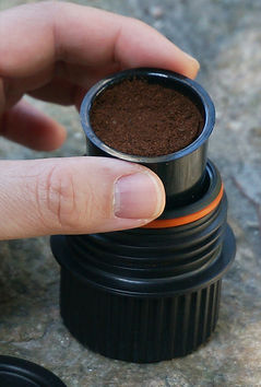 Simpresso Smart Capsule Inserted Into Nozzle