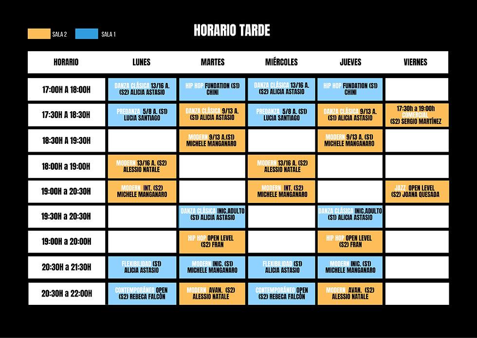 Tarde ABRIL_JUNIO Horarios Curso 2020_21
