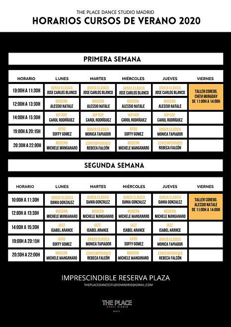 1-2 vertical Horarios y tarifas cursos d