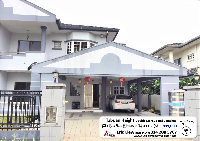 Double Storey Semi Detached House at Tabuan Height