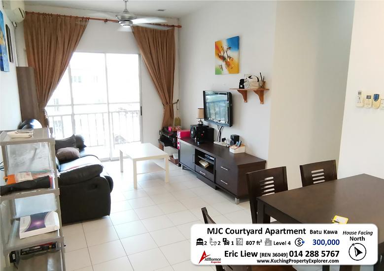 MJC Courtyard Sanctuary Apartment 3rd Floor (Level 4) at Batu Kawa