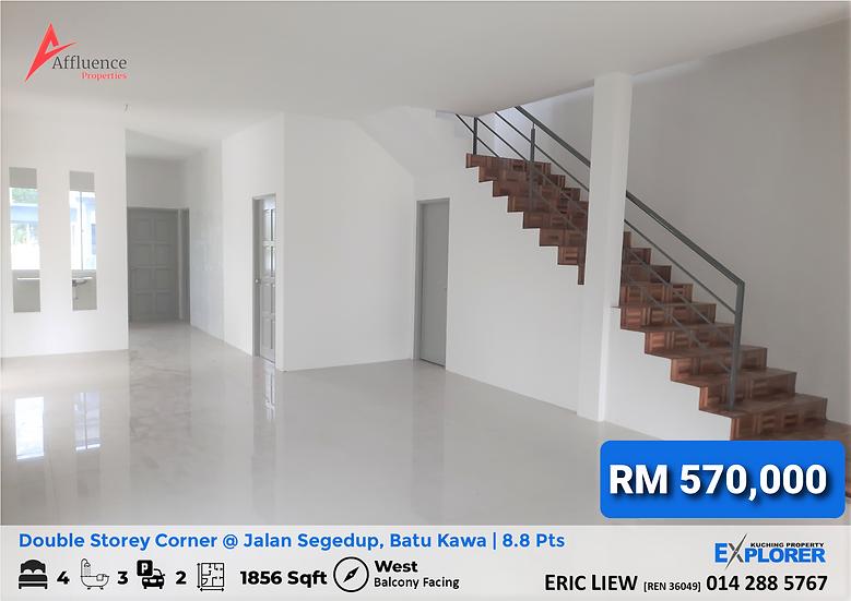 Double Storey Corner house at Jalan Segedup, Batu Kawa