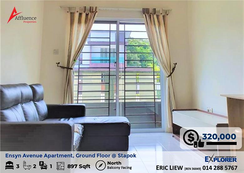 Ensyn Avenue Apartment Ground Floor at Jalan Stapok Utama