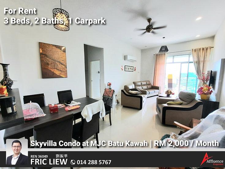 Skyvilla Condominium Top Floor at MJC Batu Kawah