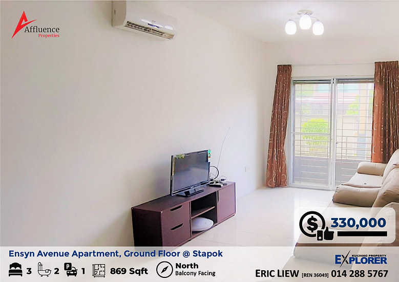 Ensyn Avenue Apartment Level 1 (G/F) at Stapok, Batu Kawa