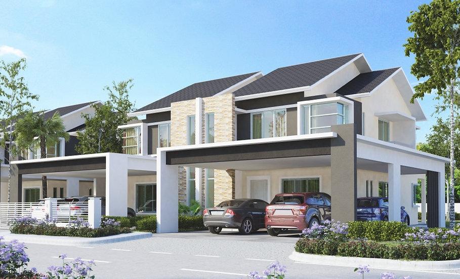 One Stapok Residence Double Storey Semi Detached at Jln Ensing Timur