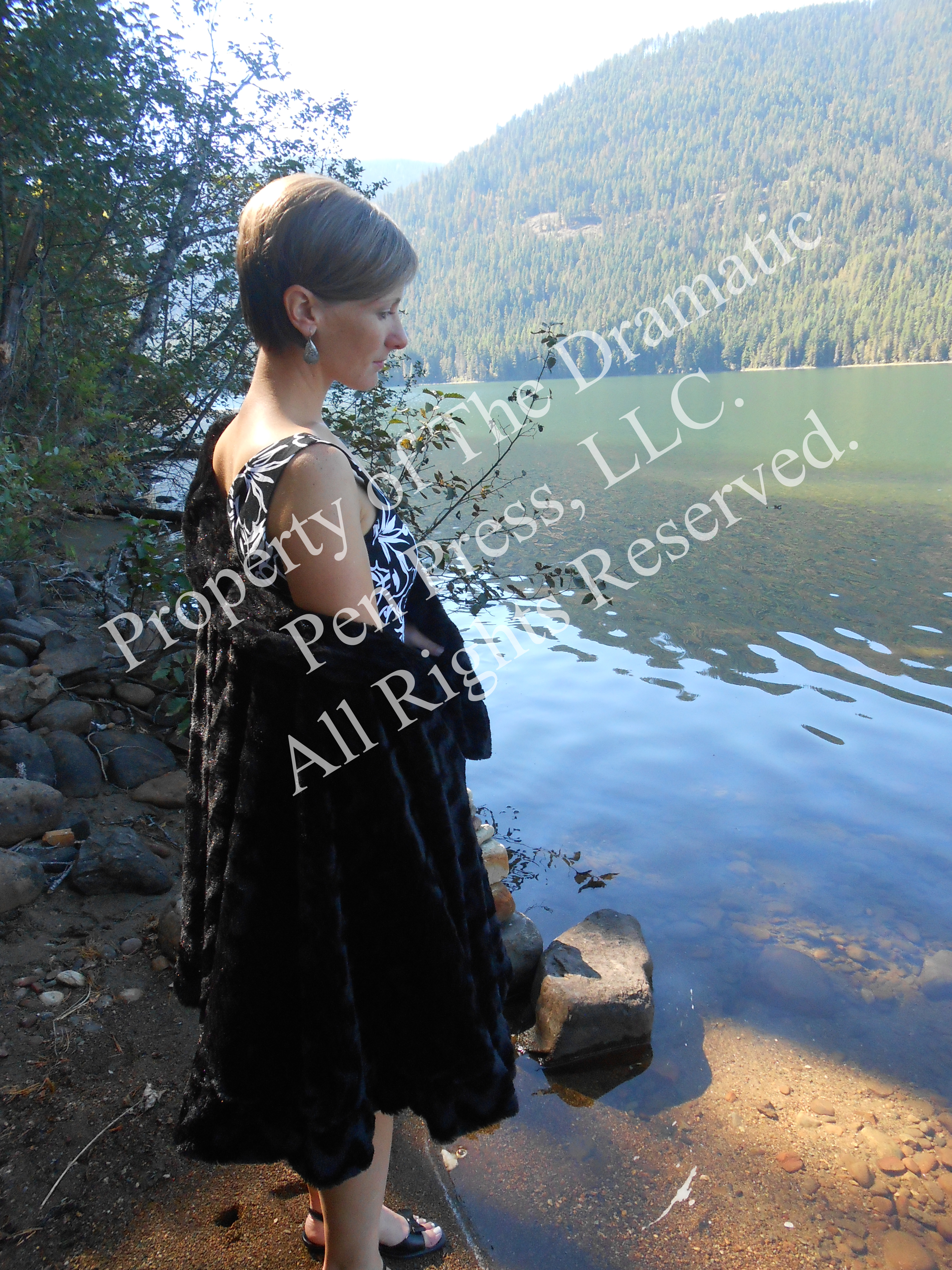 Pensive Woman by Water