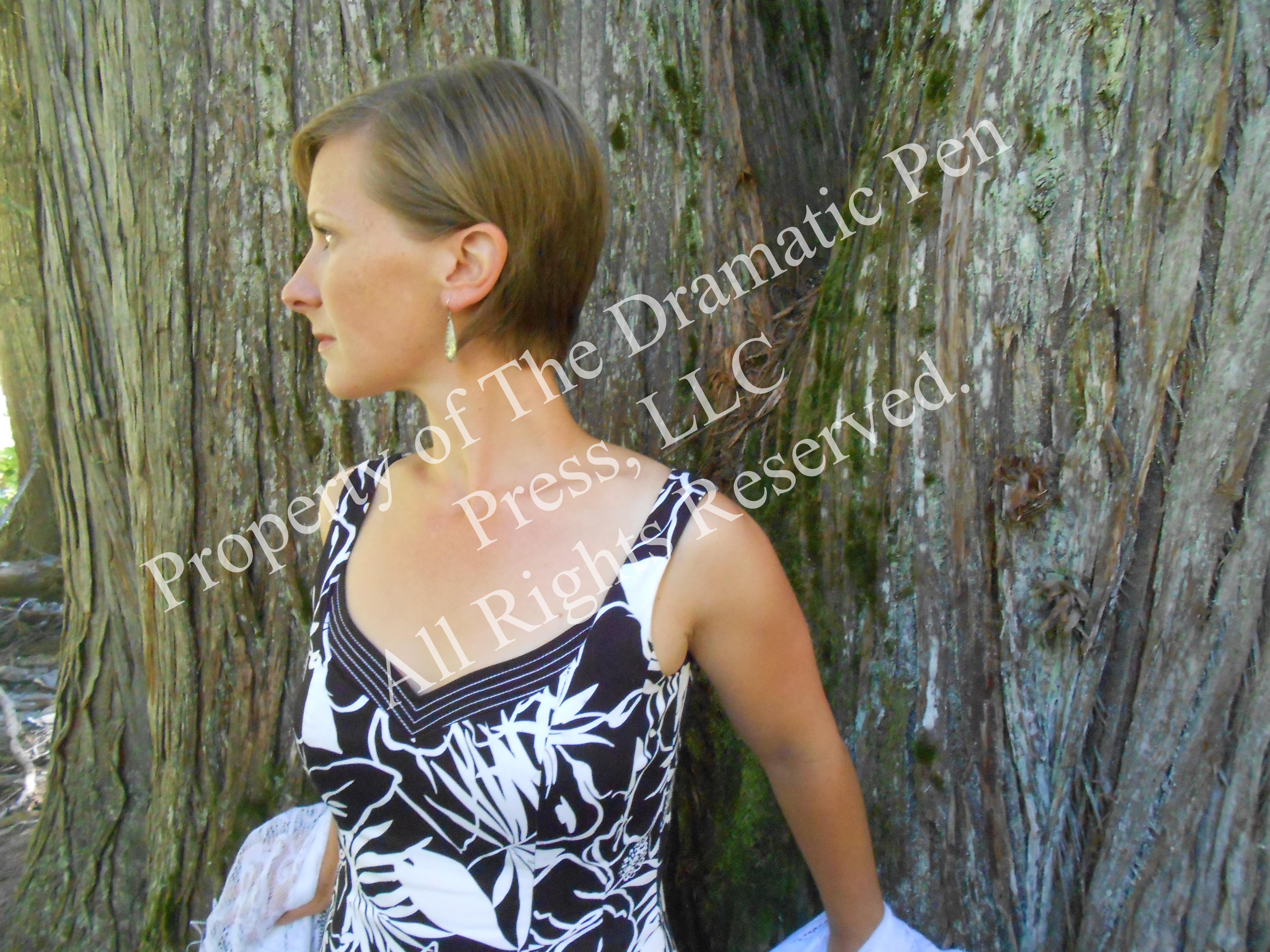 Woman Waits by Tree Anticipation