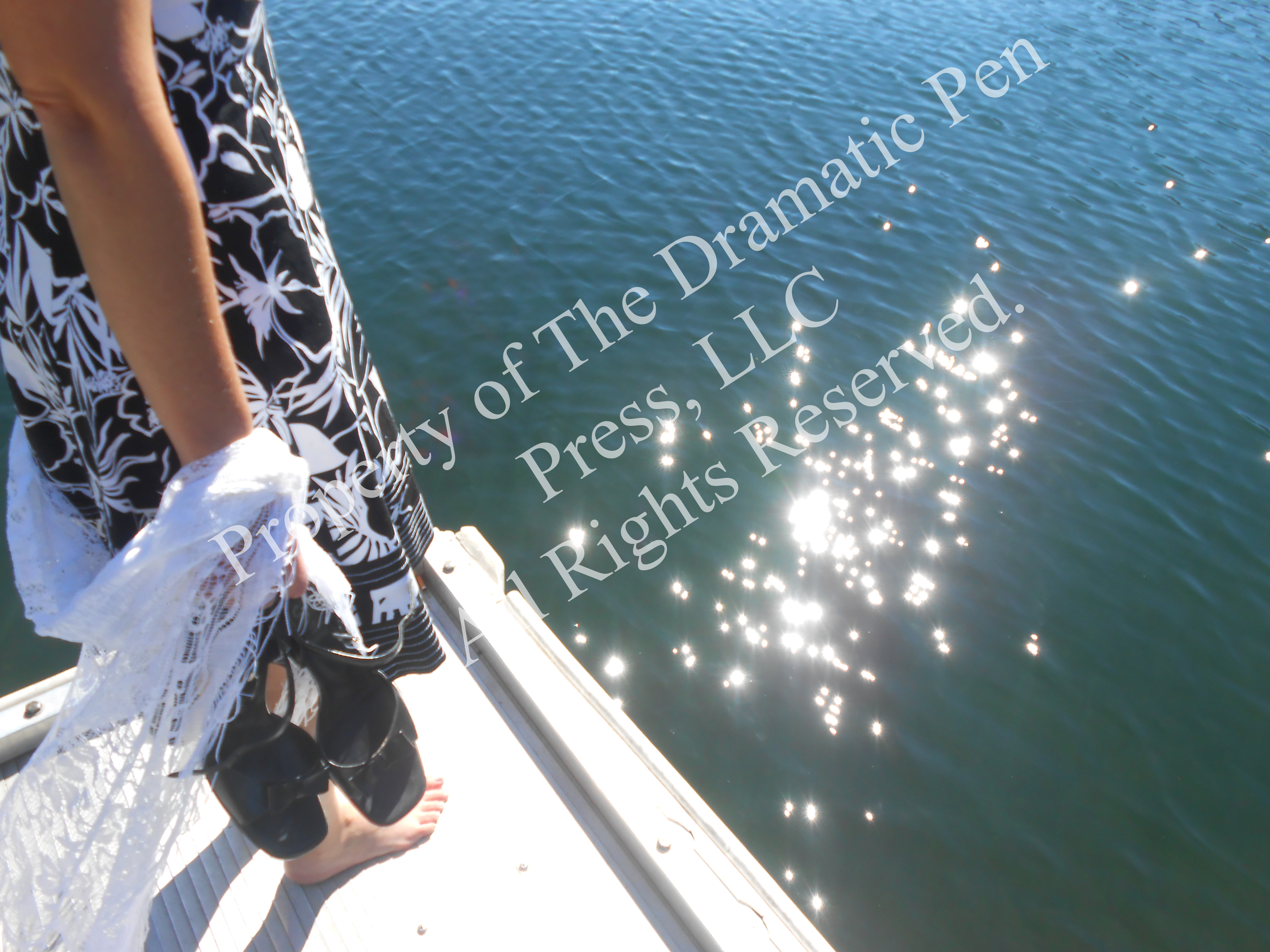 Woman Dock Sparkling Water