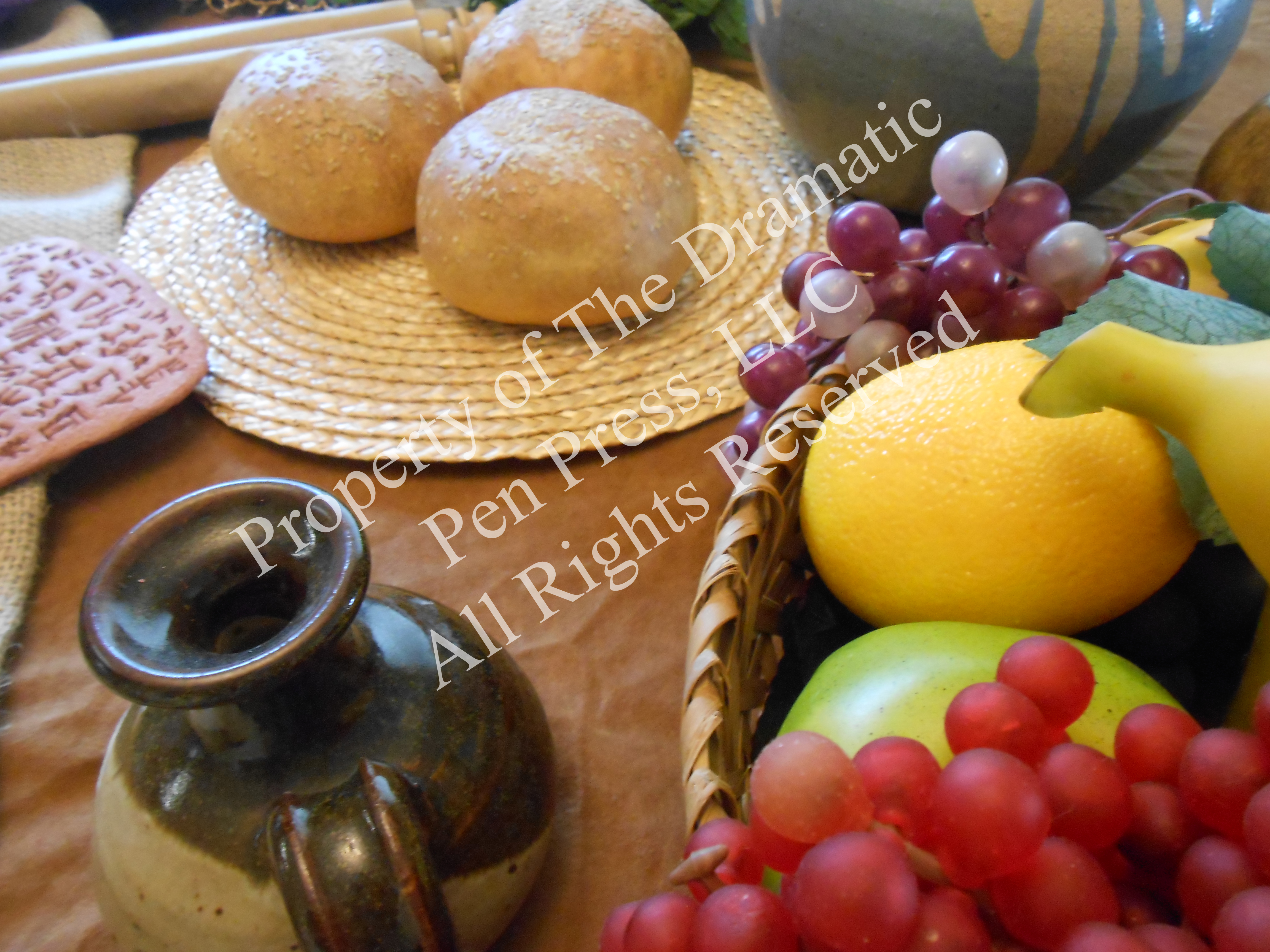 Fruit and Bread Closeup
