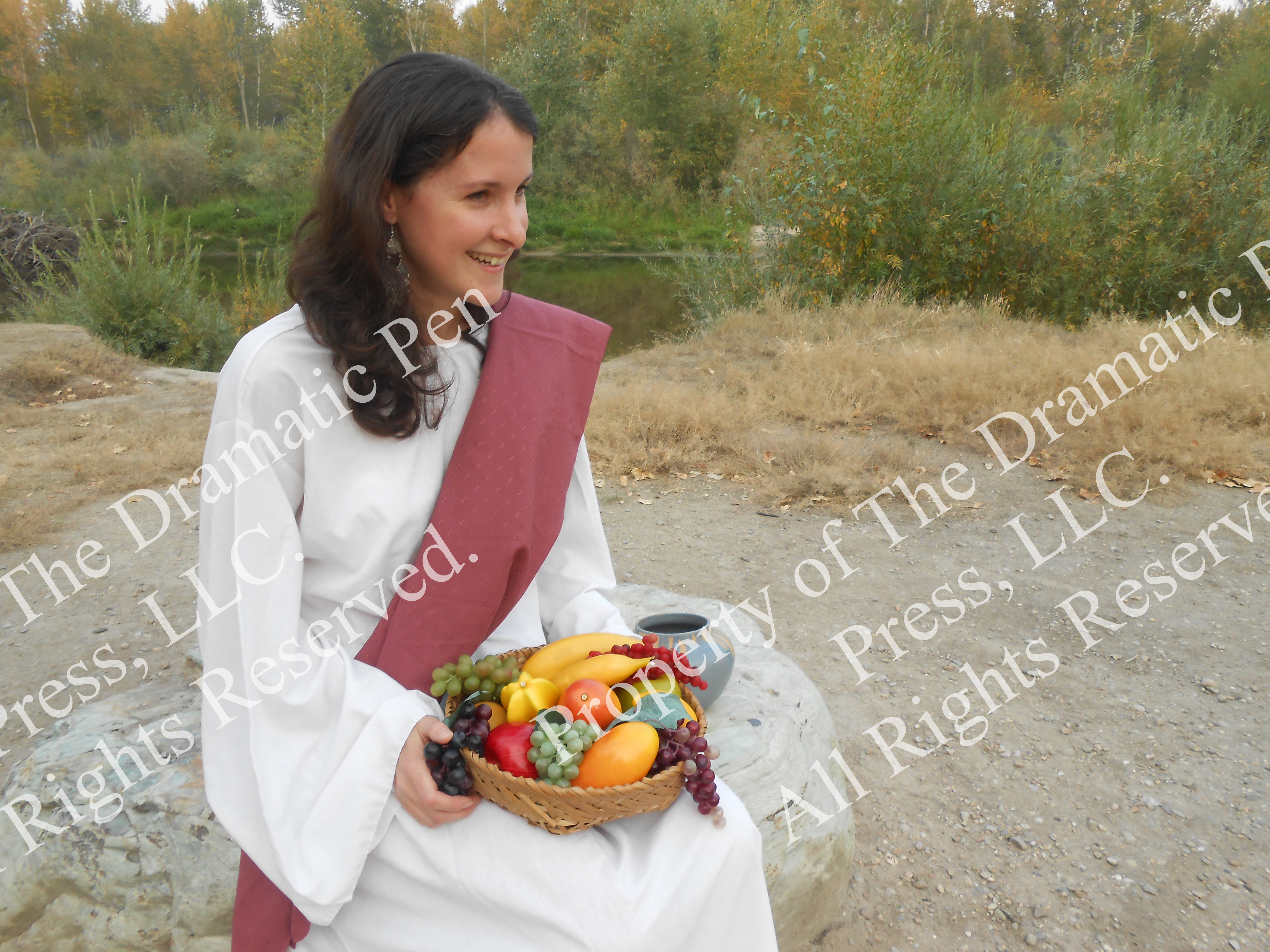 Pretty Bible Woman with Fruit