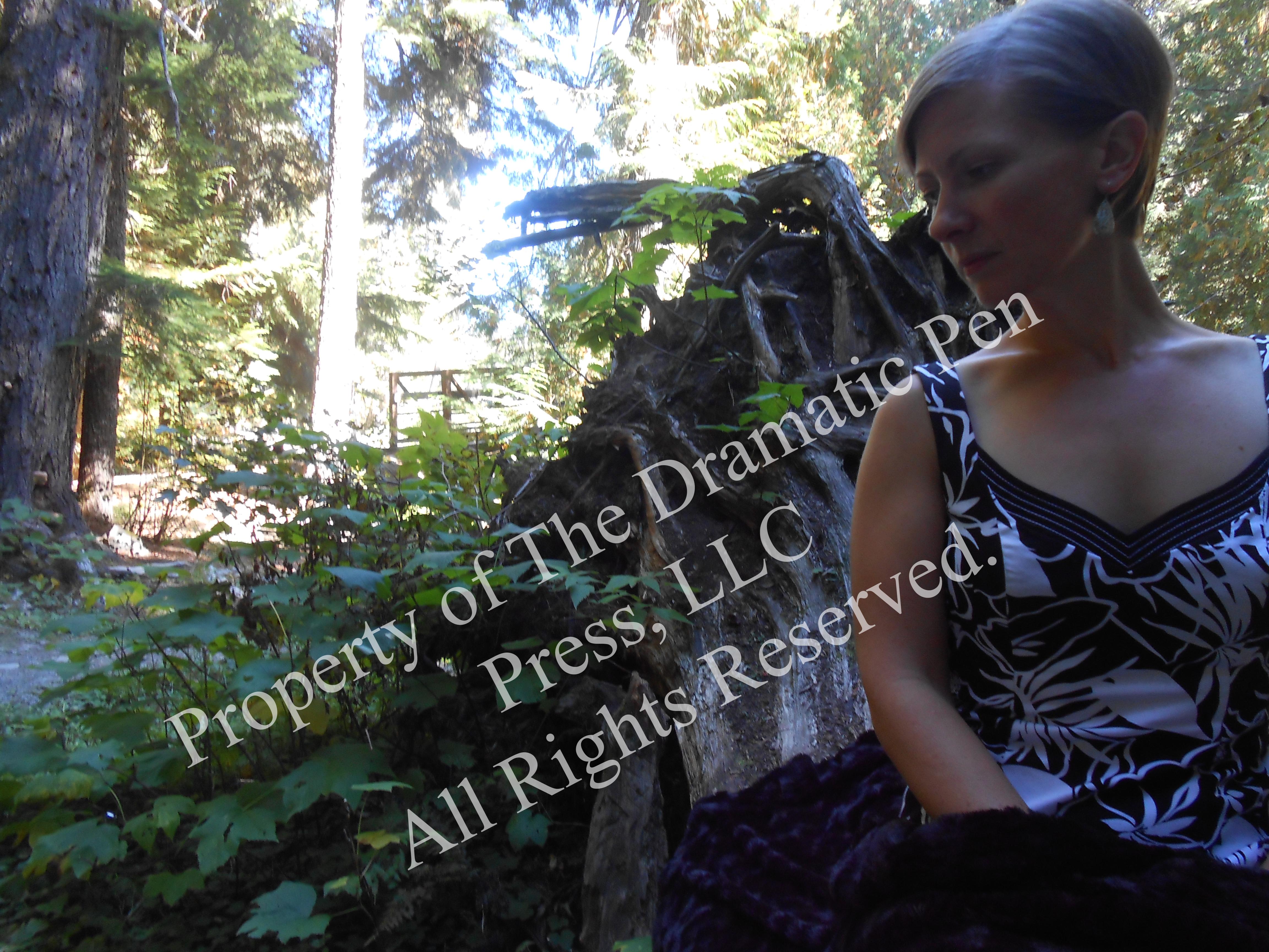 Contemplative Woman Woods