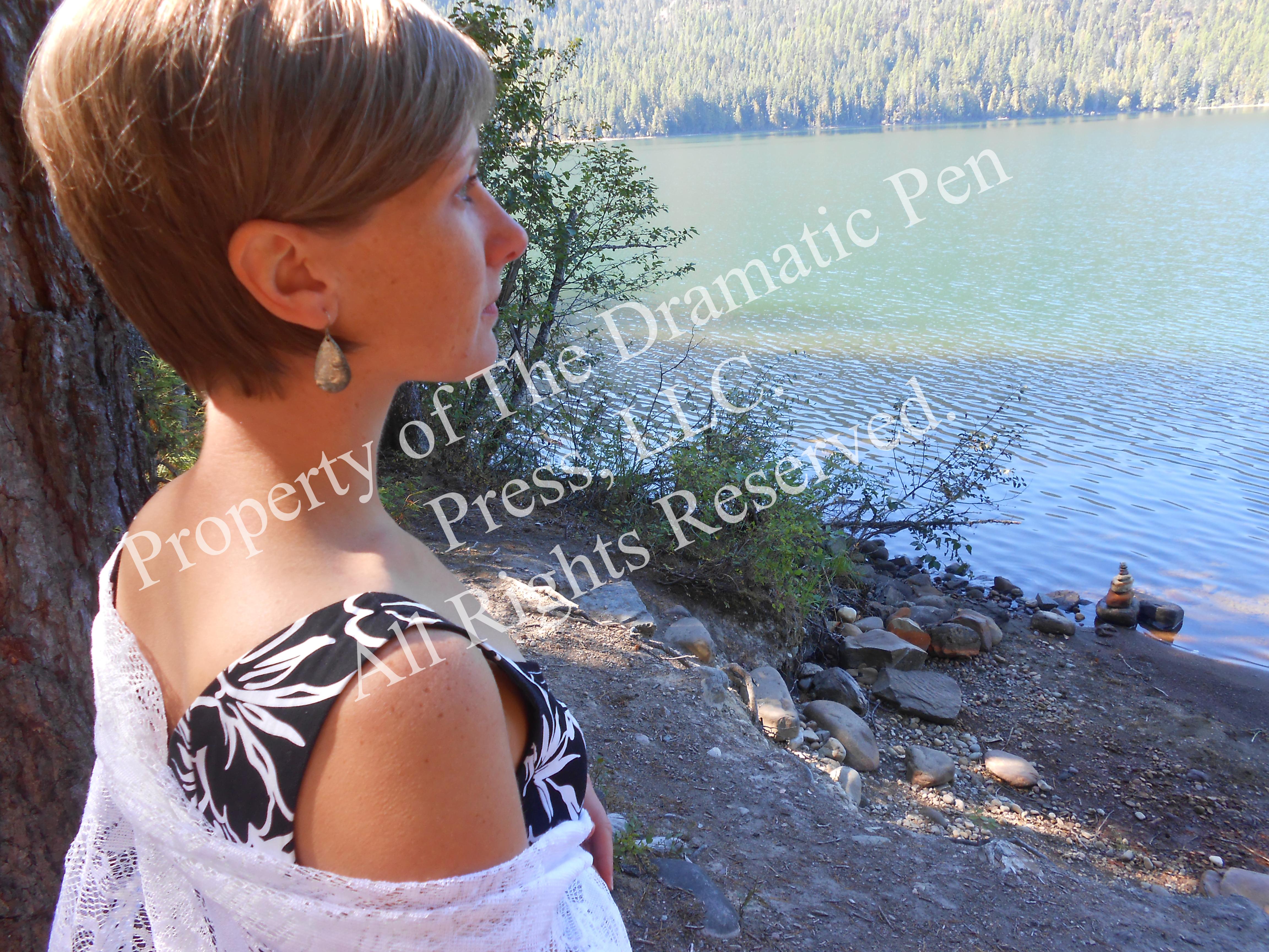 Thoughtful Woman by Lake
