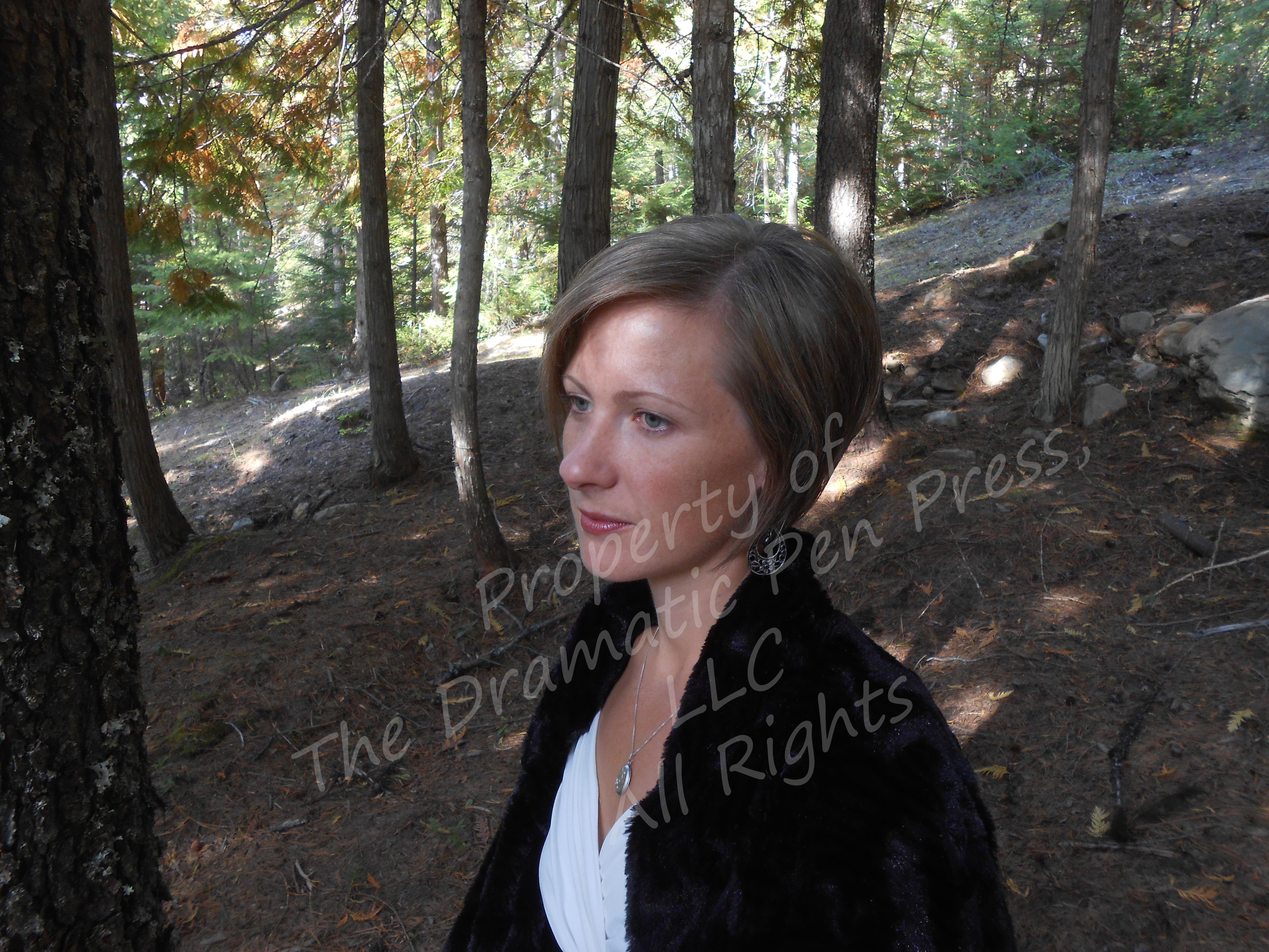 Woman in Woods Fur Coat