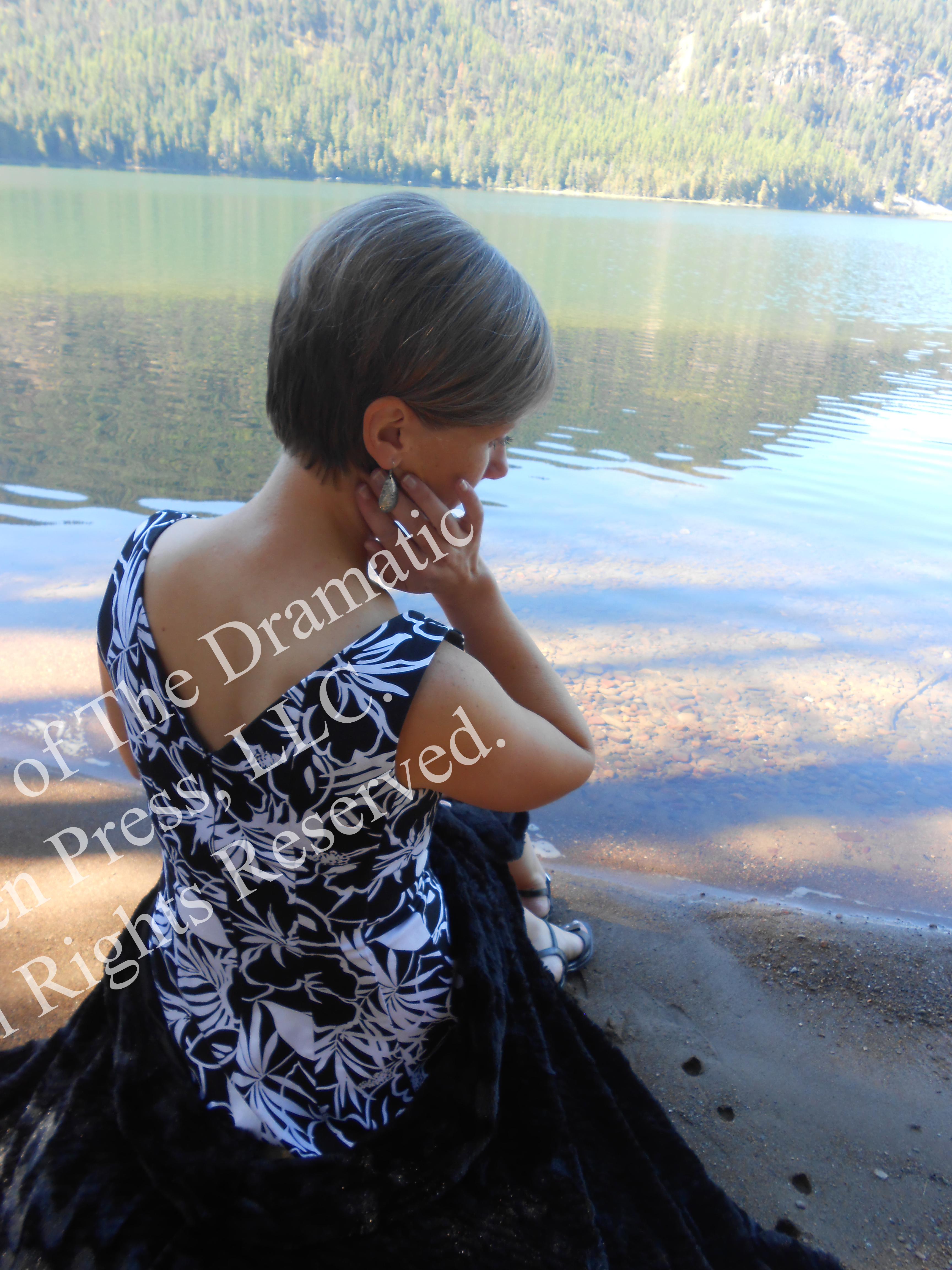Beautiful Woman by Lake