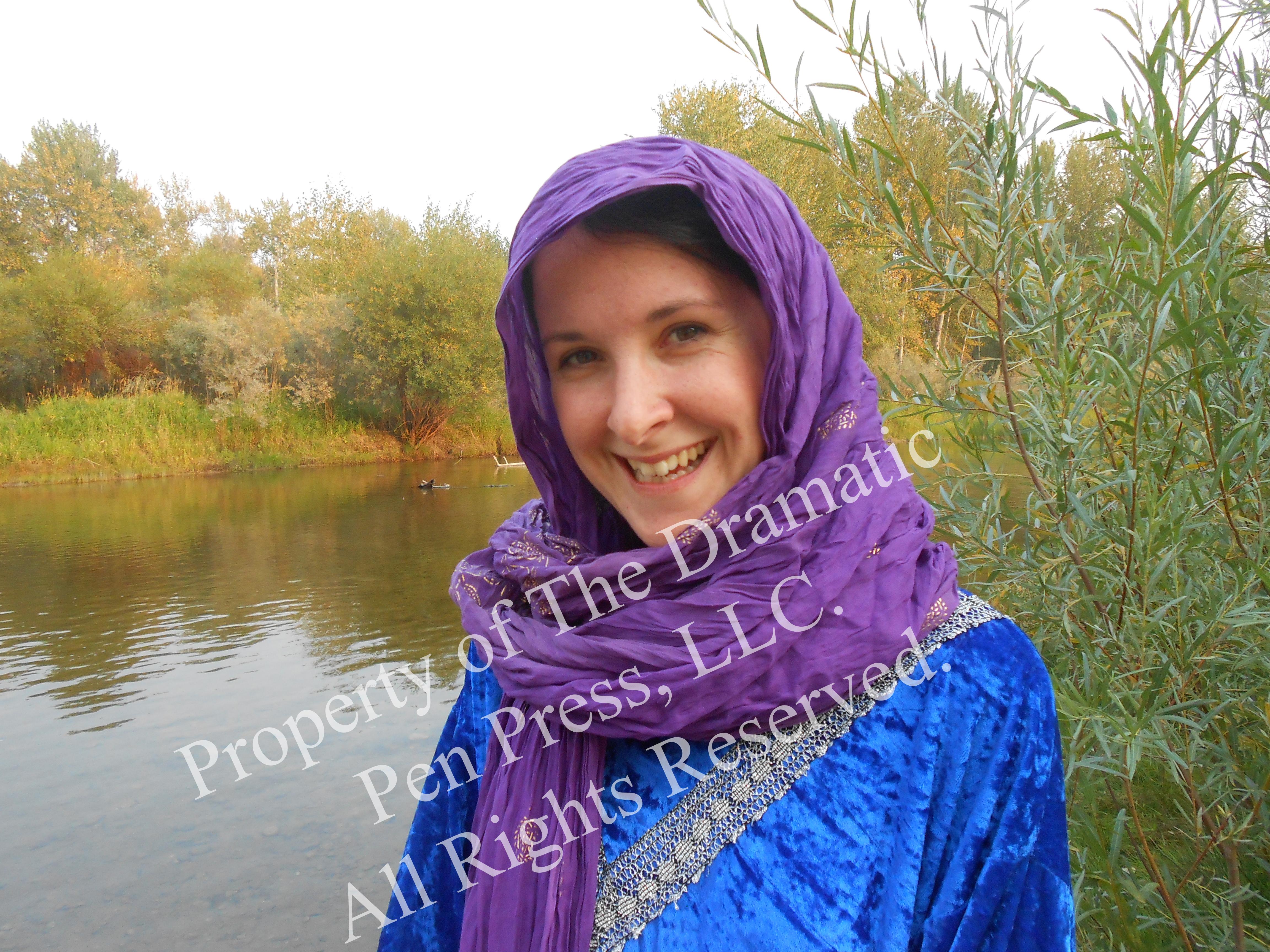 Enchanting Biblical Woman in Purple