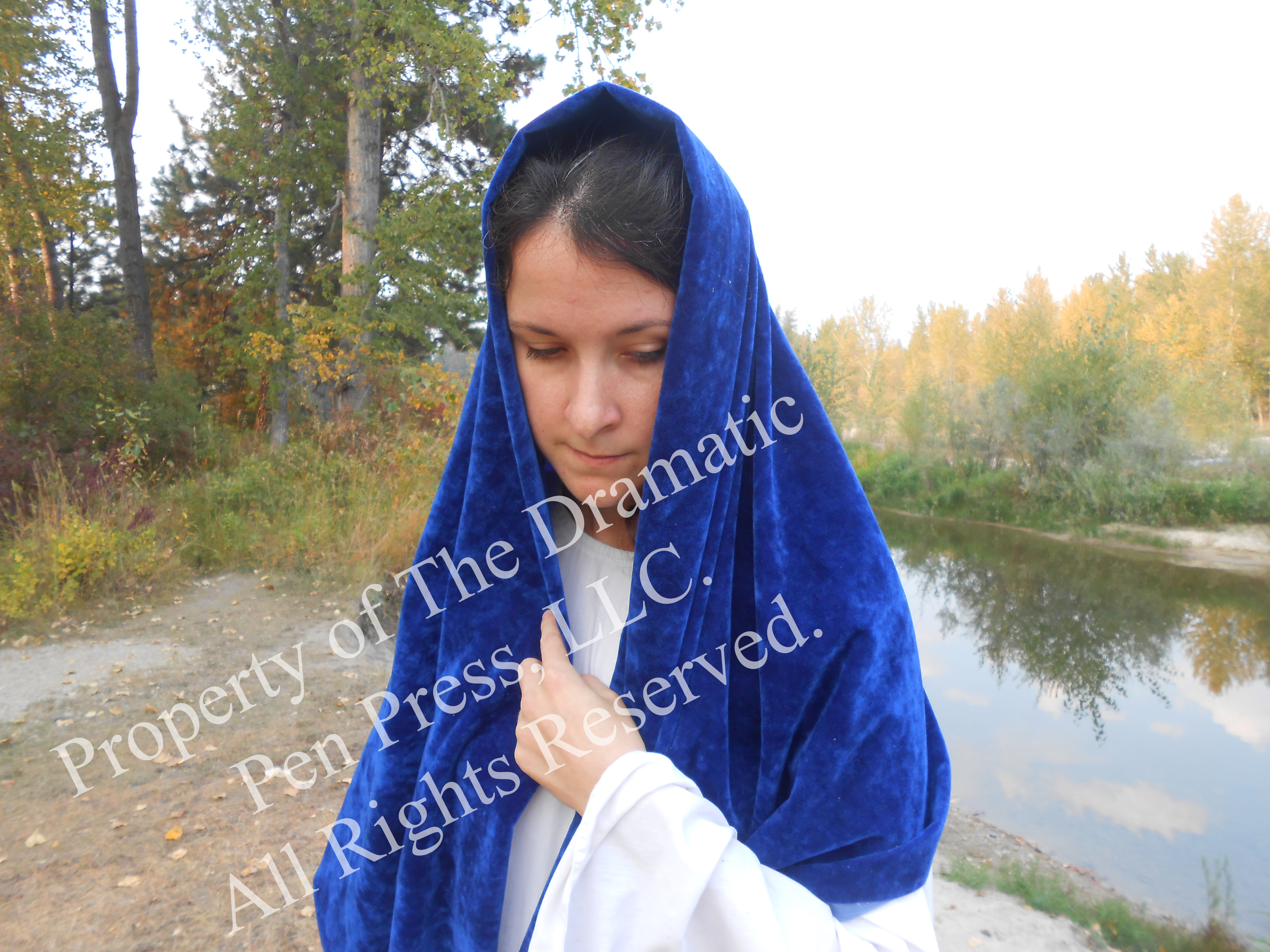 Biblical Woman Looking Down by River