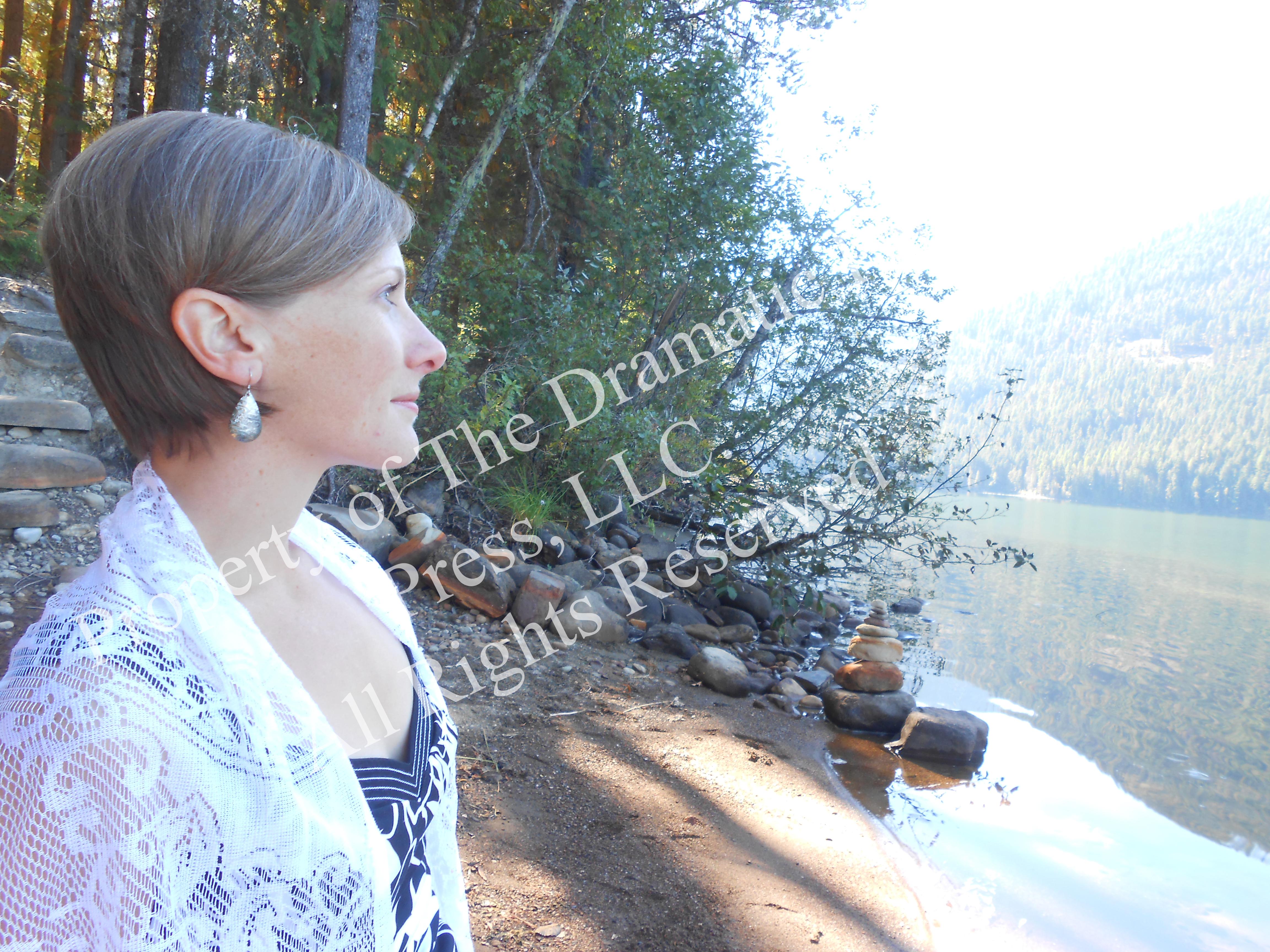 Woman Looking Toward Lake