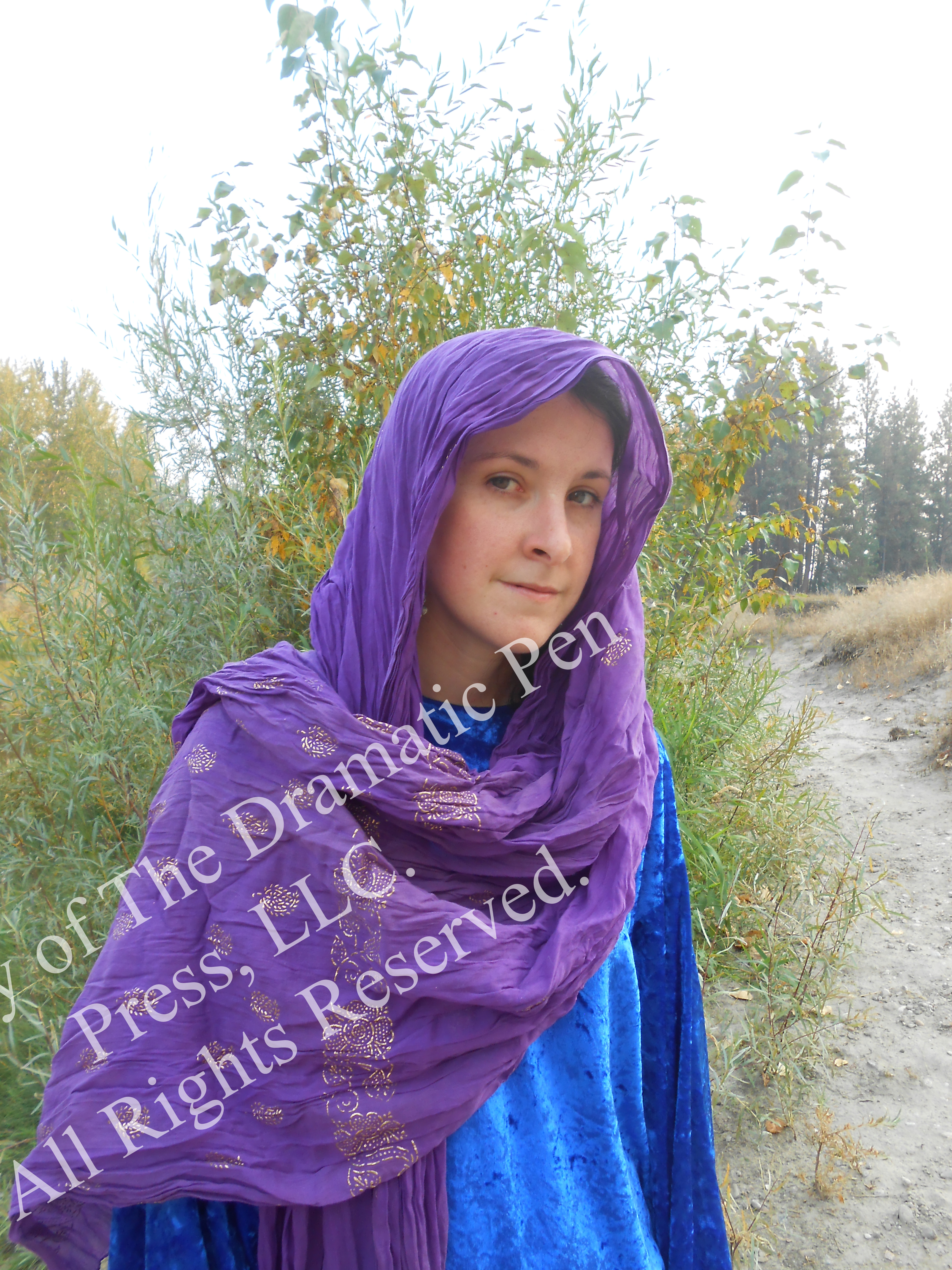Biblical Woman Purple Soft Smile