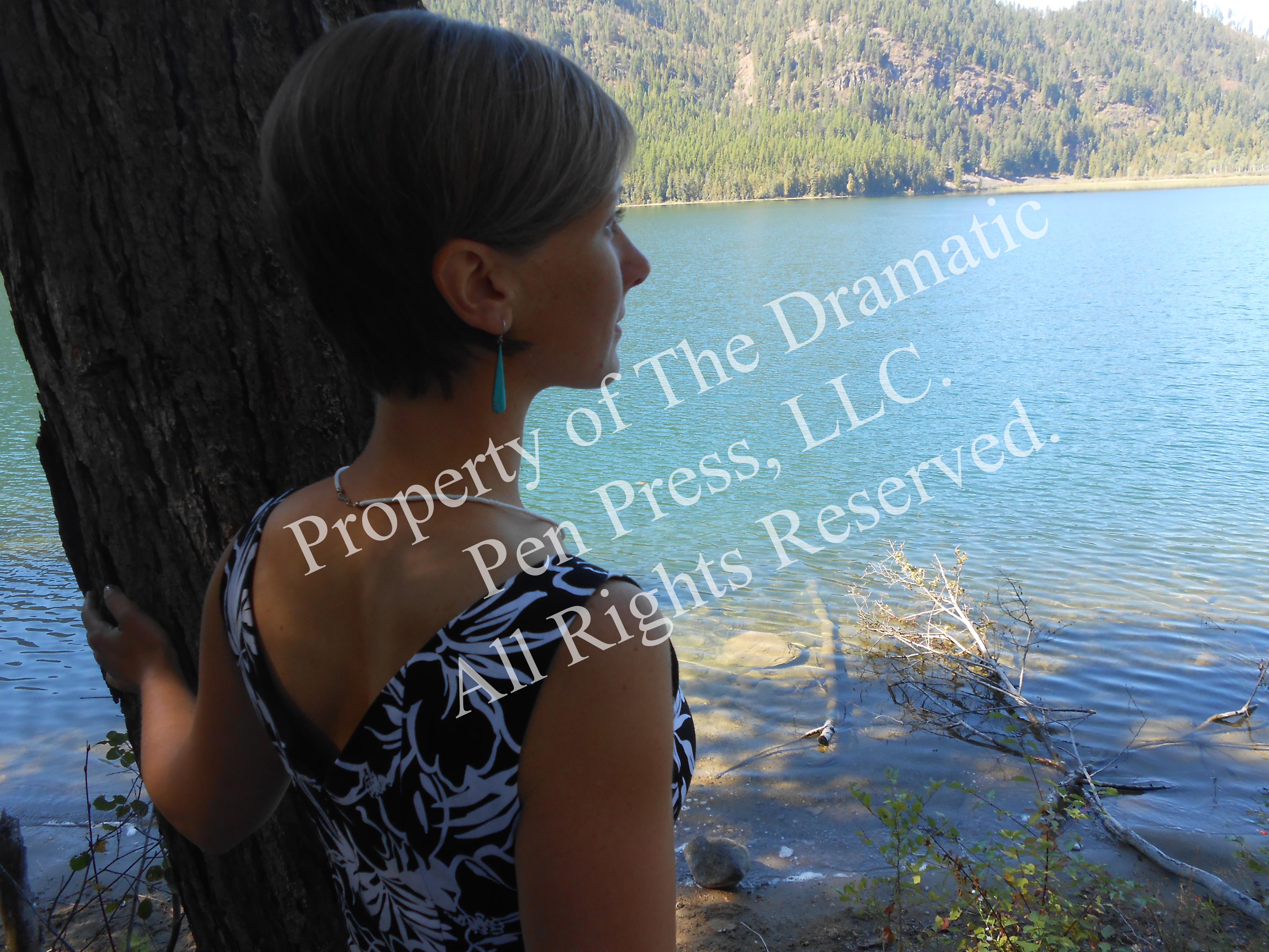 Woman Overlooking Lake