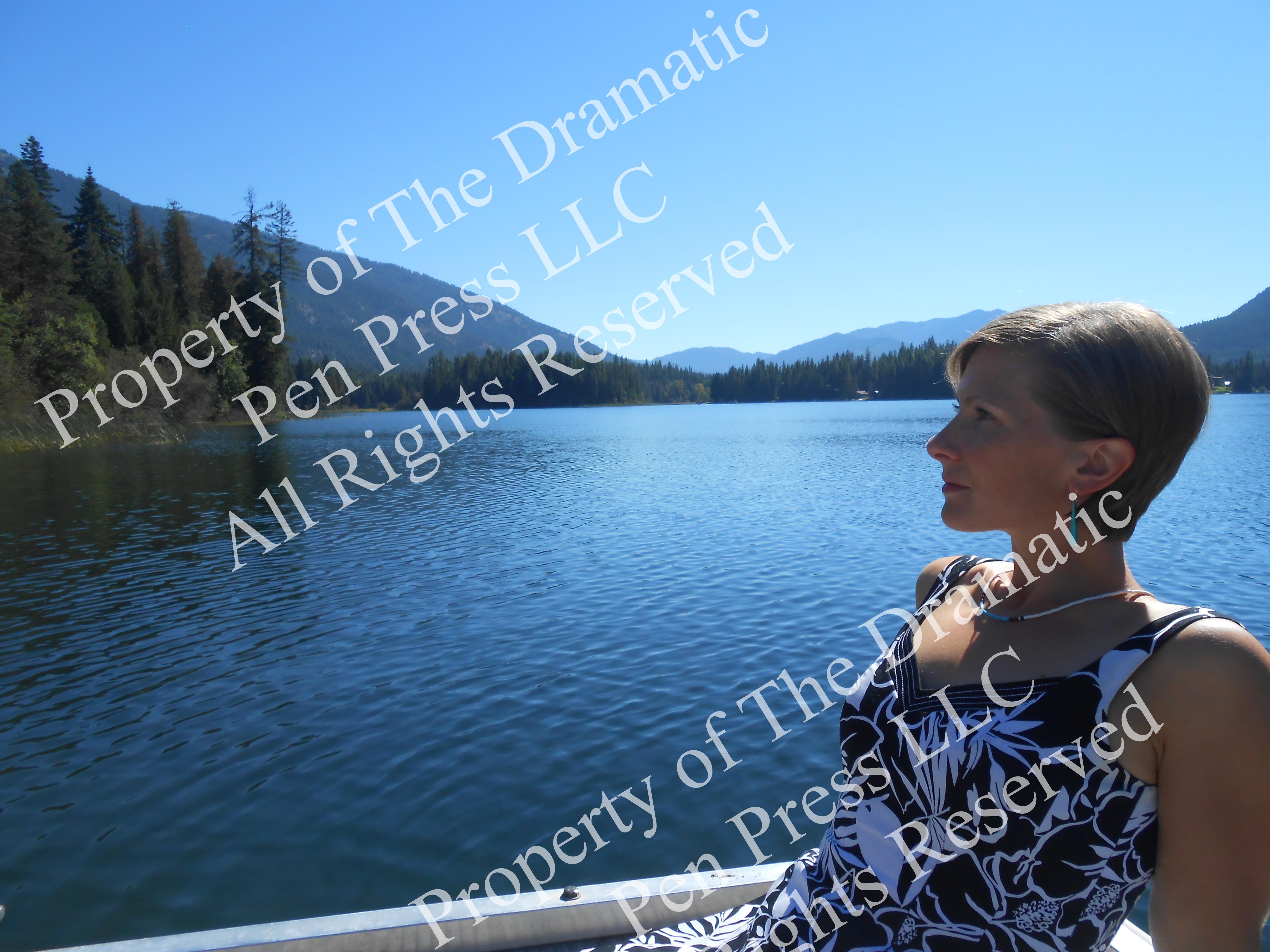 Reclining Woman Mountain Lake