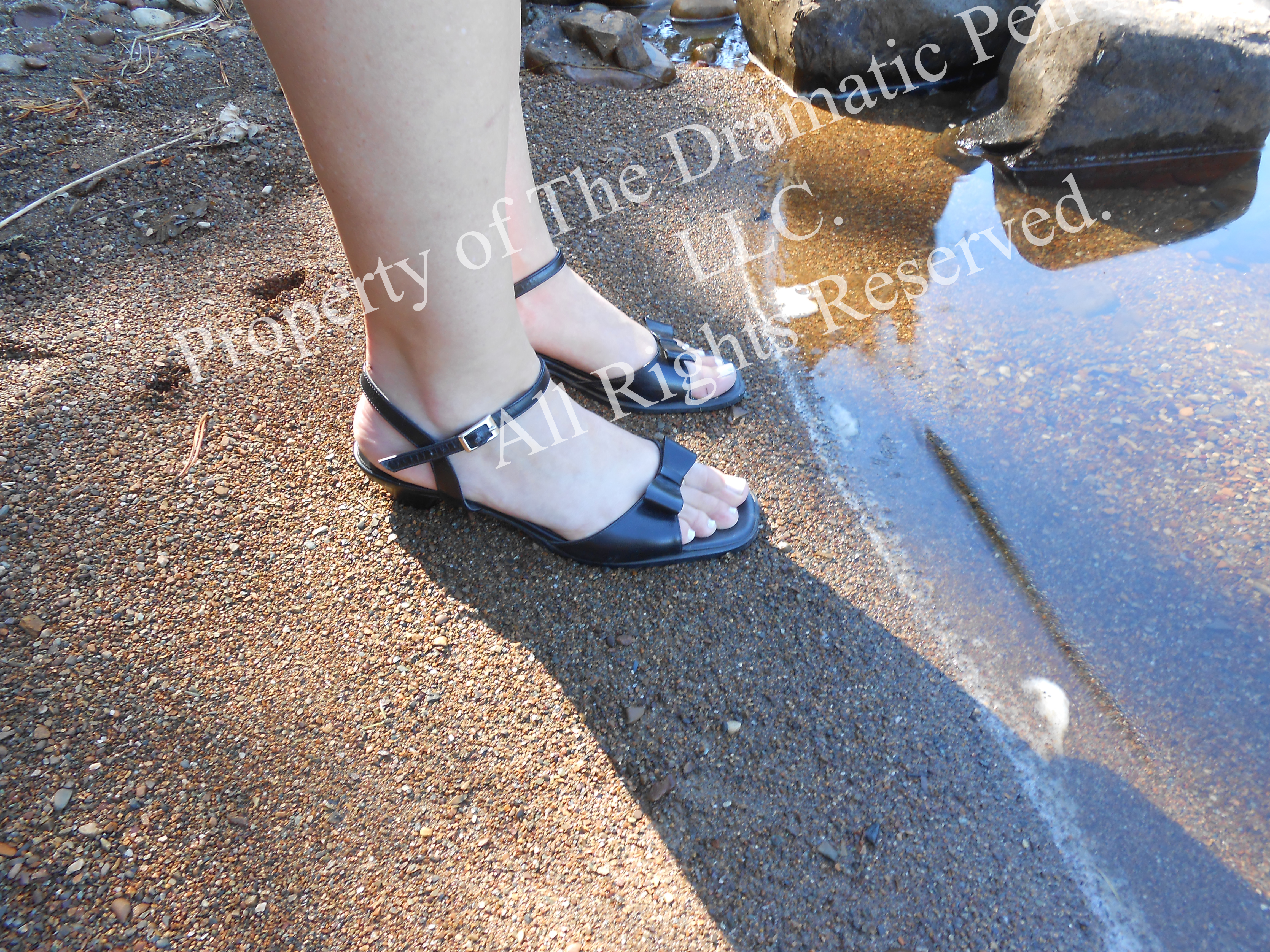 Woman's Feet by Water