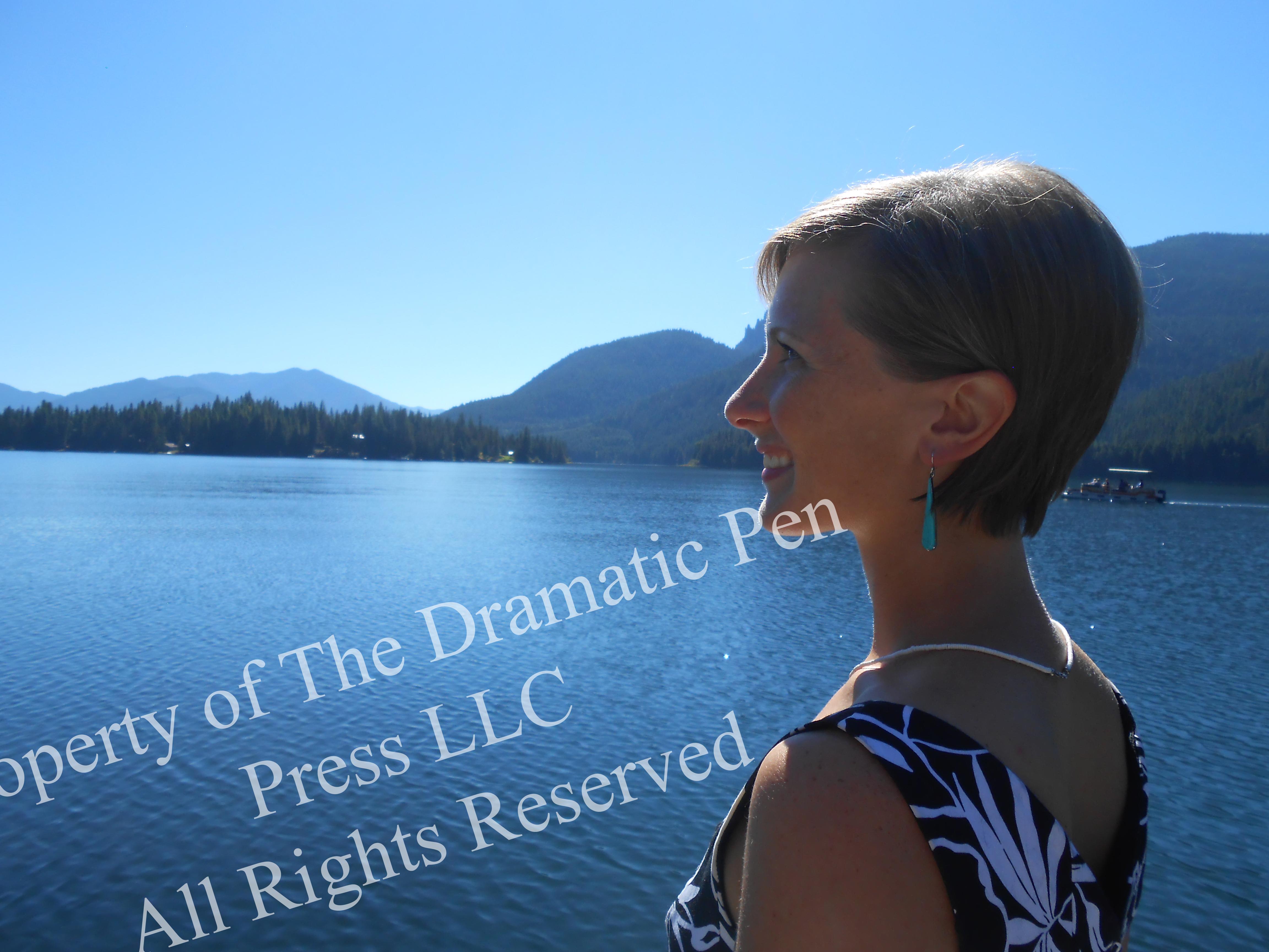 Happy Woman Mountain Lake