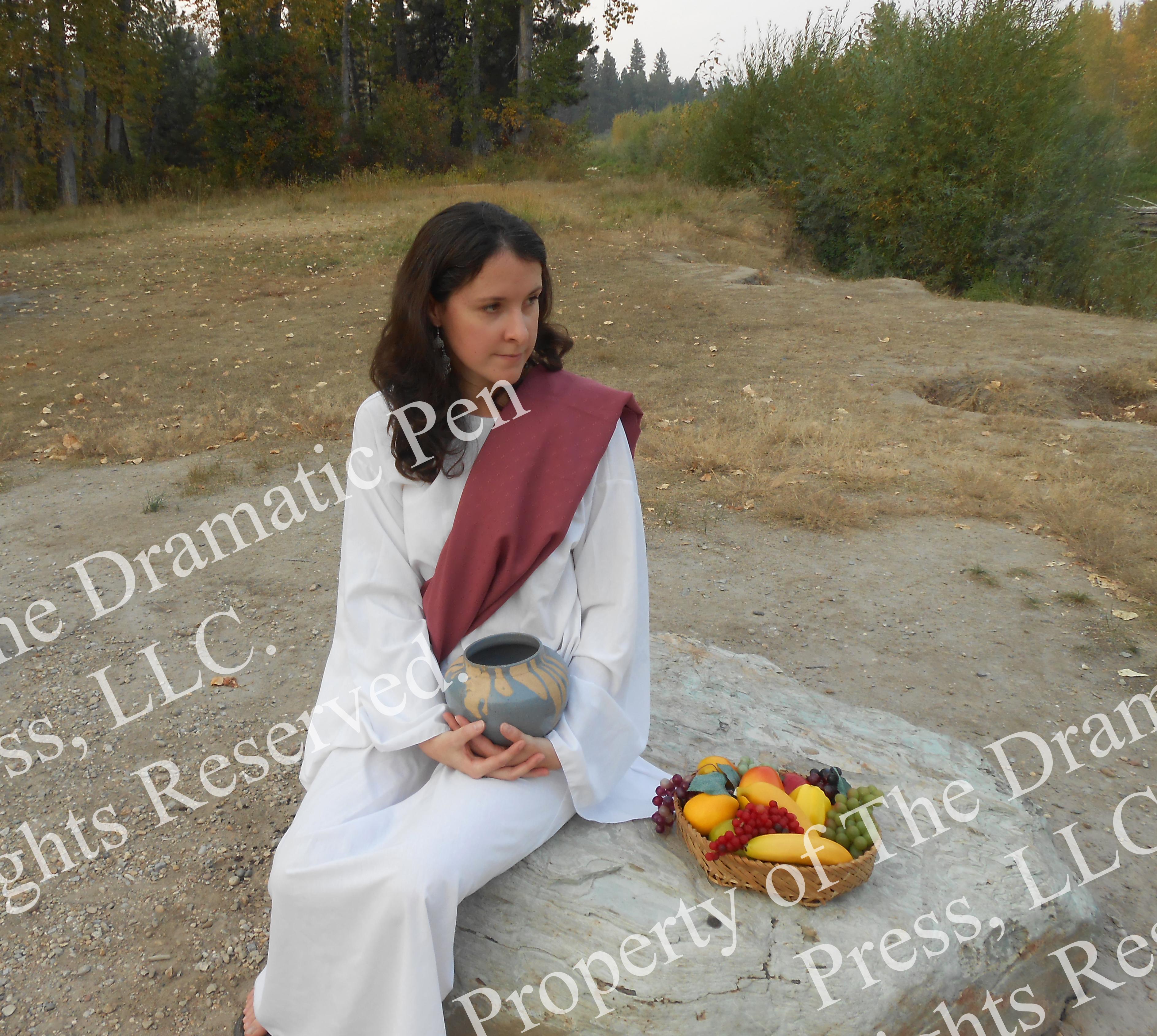 Biblical Woman Pink Sitting Bowl