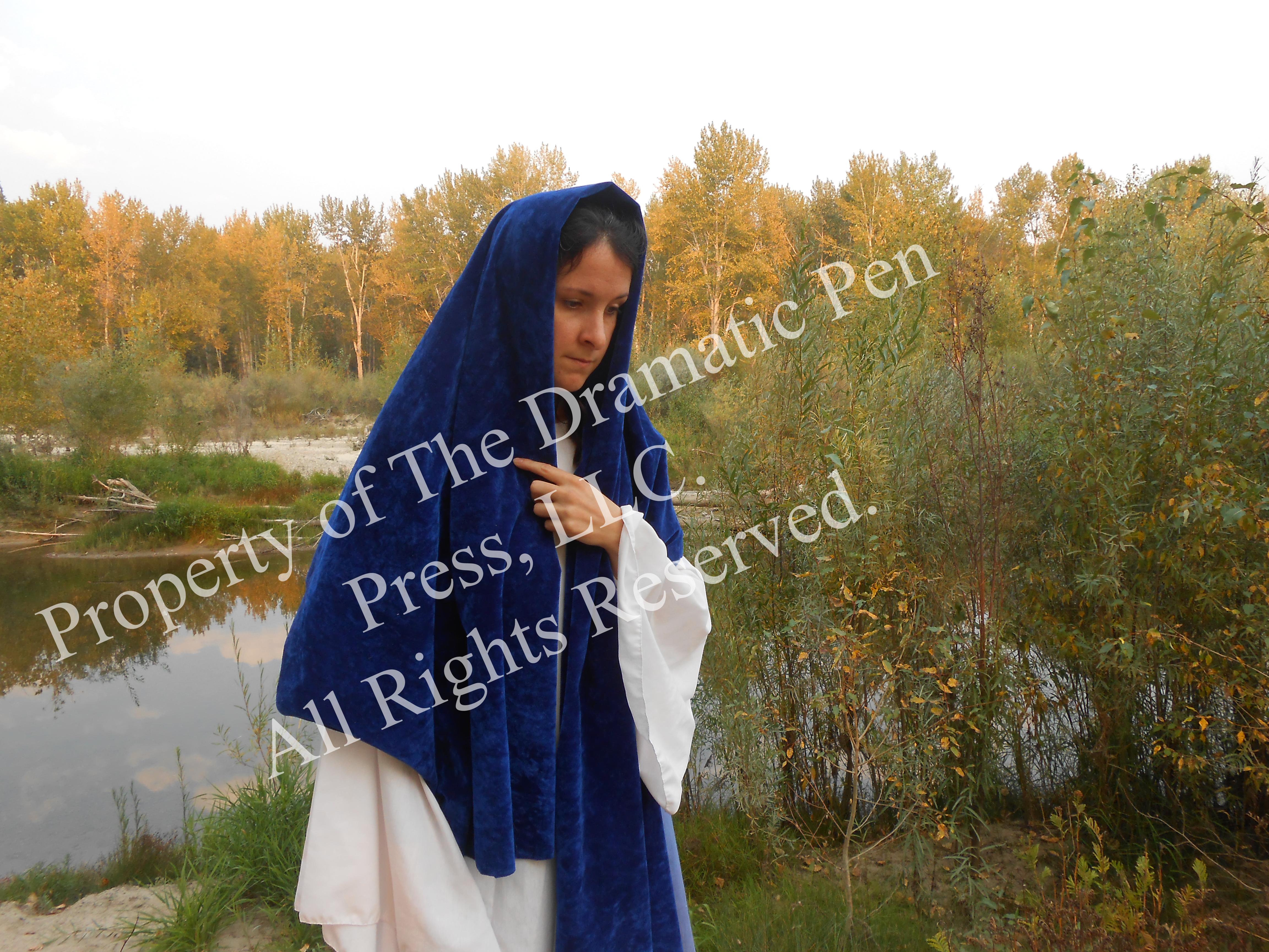 Biblical Woman Walks by River