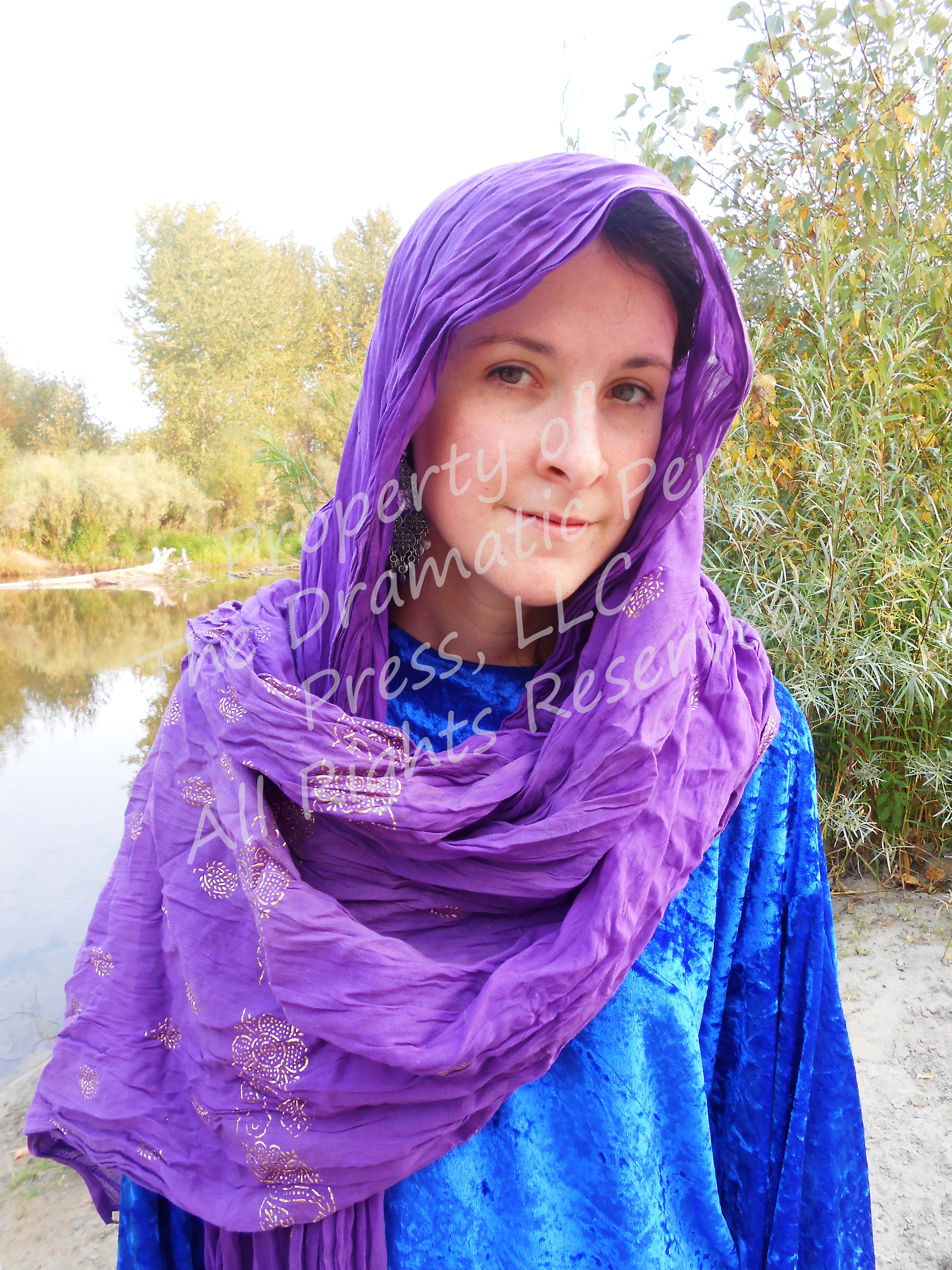 Biblical Woman by River Blue Purple
